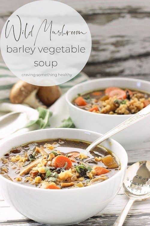 Wild Mushroom Barley Soup |Craving Something Healthy #soup #barleysoup #mushroomrecipes #mushroomsouprecipes #dinner #crockpotsoup #vegetariansoup