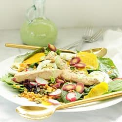 Wild Mackerel Good Mood Salad with Creamy Kefir Herb Dressing |Craving Something Healthy