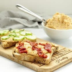 Vegan Harissa Almond Cheese Spread