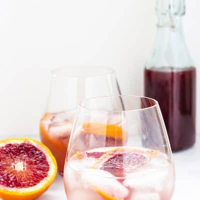 Sparkling Spiced Blood Orange Shrub