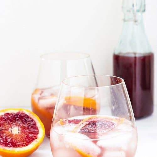 Sparkling Spiced Blood Orange Shrub | Craving Something Healthy