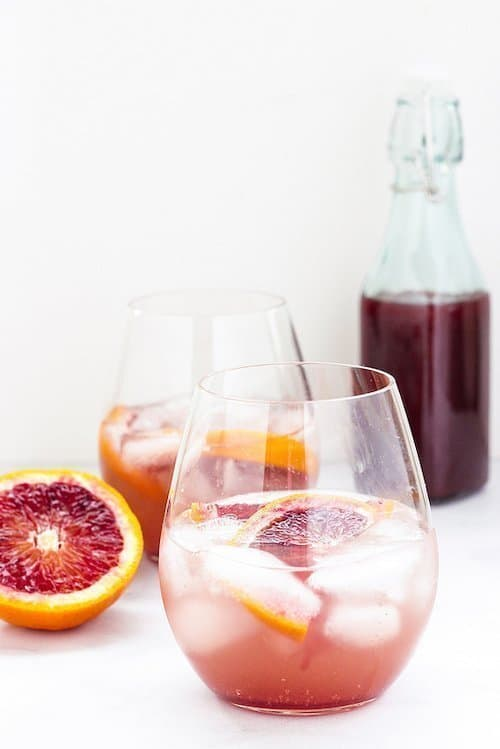 Sparkling Spiced Blood Orange Shrub | Craving Something Healthy