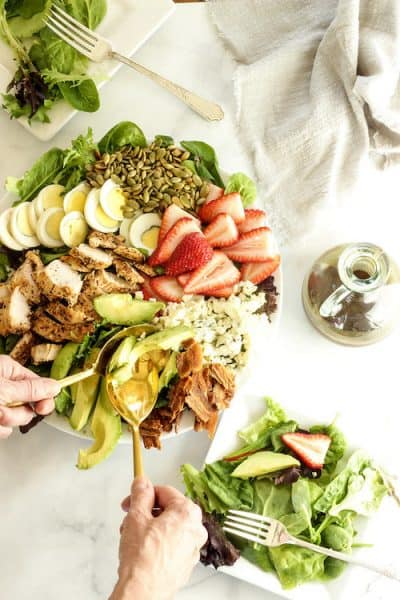 Skinny Cobb Salad with Balsamic Honey Mustard Vinaigrette|Craving Something Healthy
