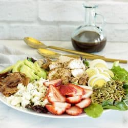 Skinny Cobb Salad with Balsamic Honey Mustard Vinaigrette| Craving Something Healthy