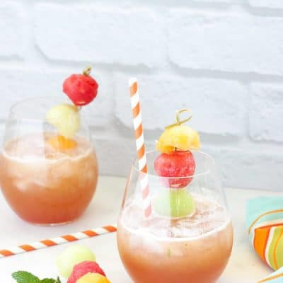 Melon Ball Mojitos