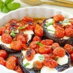 Caprese Stuffed Portobello Mushroom Caps | Craving Something Healthy