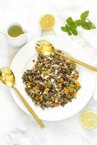 Mediterranean Lentil and Barley Salad