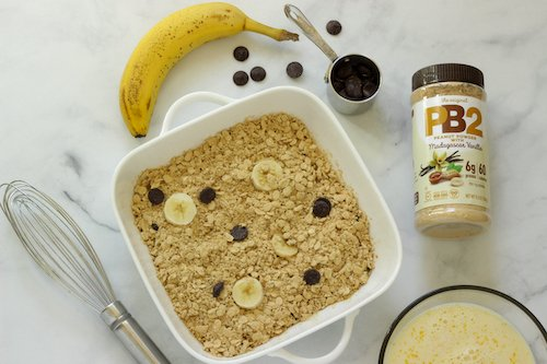 Chocolate Peanut Butter Banana Baked Oats | Craving Something Healthy
