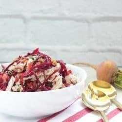 Sweet Carrot Cabbage and Beet Slaw