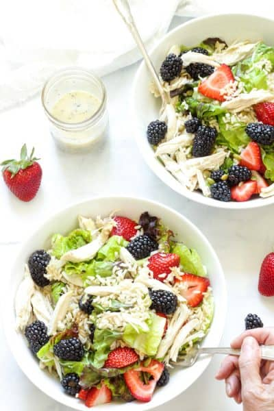 Chicken Berry Brown Rice Bowls| Craving Something Healthy