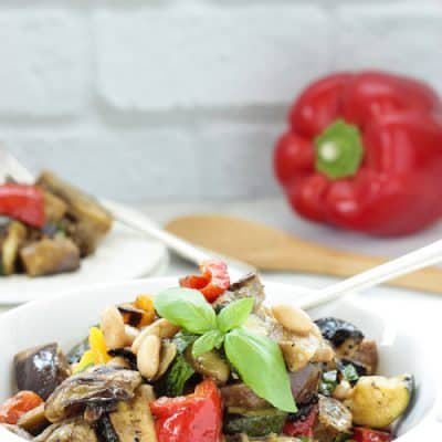 Grilled Mediterranean Vegetables With White Beans