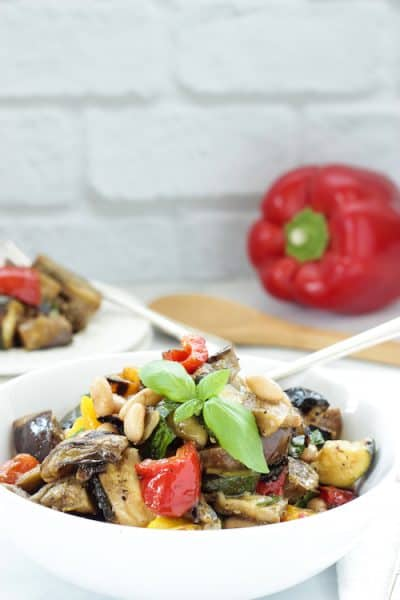 Grilled Mediterranean Vegetables with White Beans | Craving Something Healthy