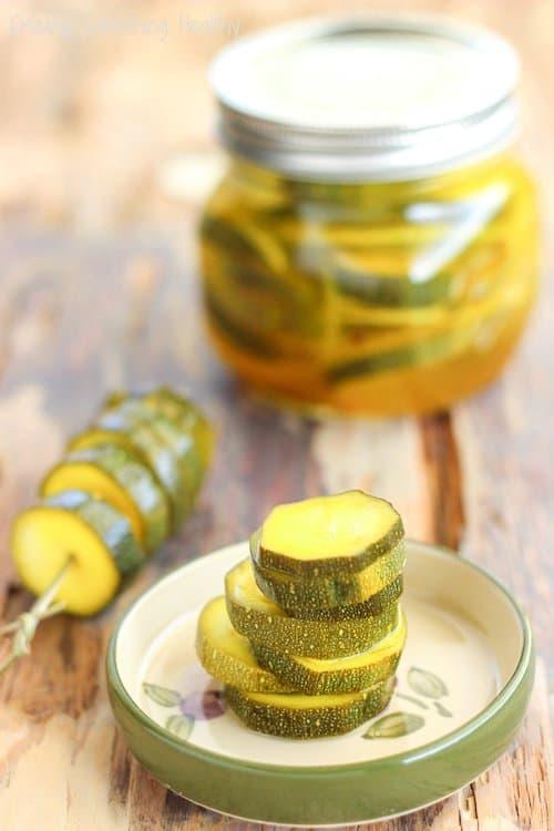 Refrigerator Zesty Zucchini Pickles