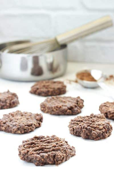 Stovetop Chocolate Peanut Butter Cookies