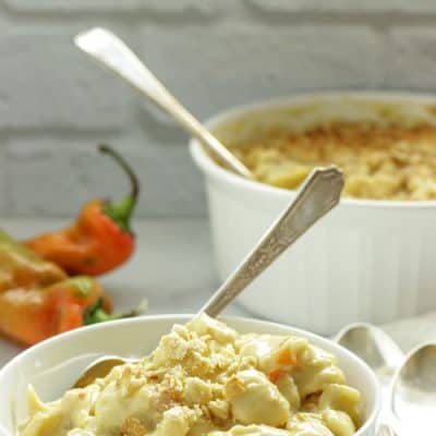 Stovetop Hatch Chile Mac and Cheese
