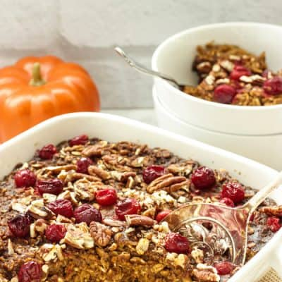 Pumpkin & Gingerbread Baked Oatmeal
