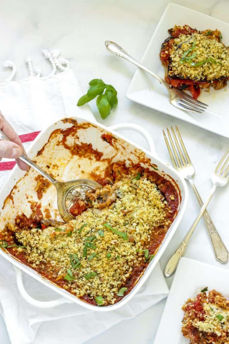 Grilled Vegetable Parmesan Casserole