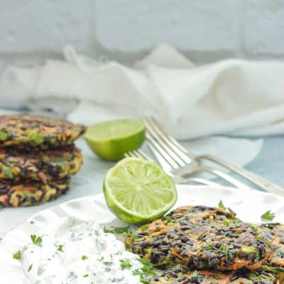 Carrot Zucchini & Brown Rice Fritters