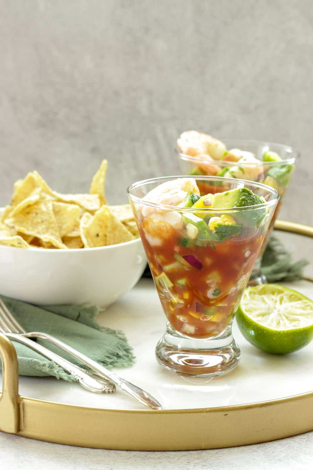 Mexican Shrimp Cocktail with Summer Vegetables