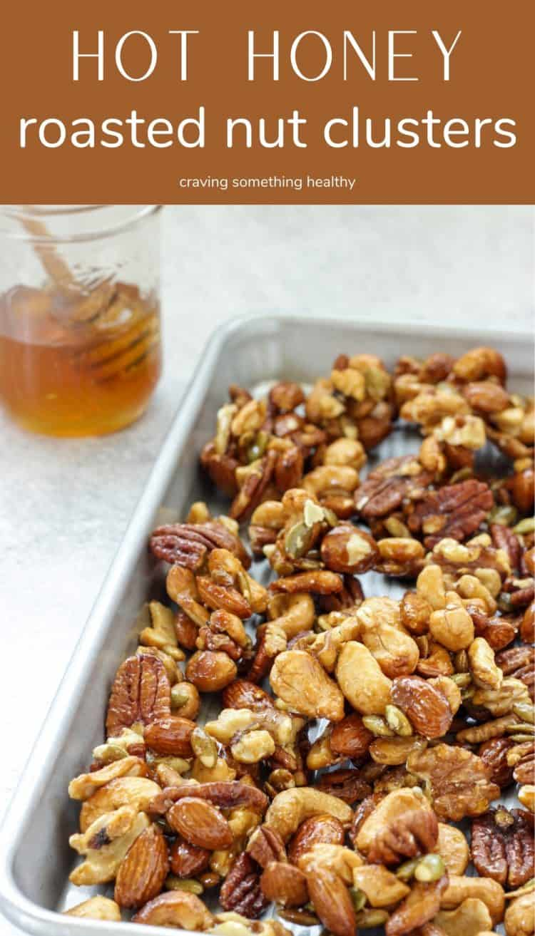 pan of mixed nut clusters